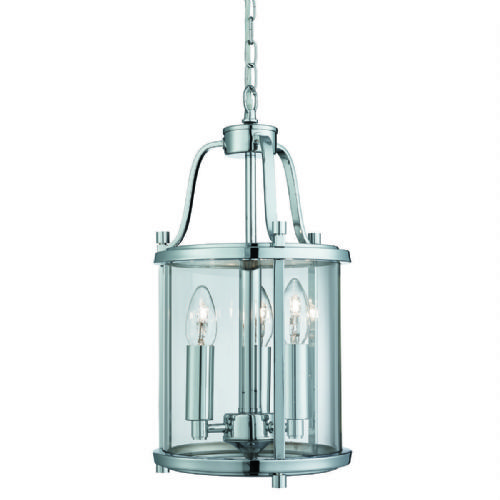 Victorian Lantern, 3 Light Chrome, Clear Glass 3063-3Cc